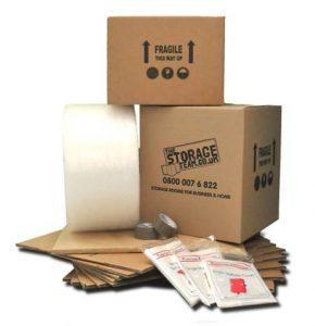 self storage units|closed storage unit|open storage unit|Moving box pack
